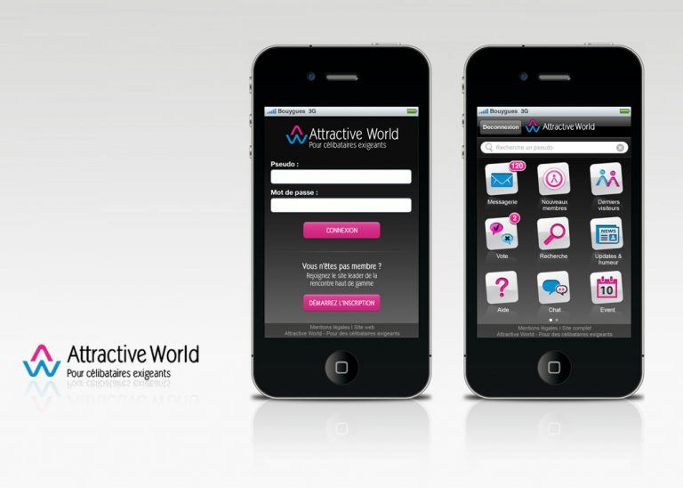 application mobile attractive world